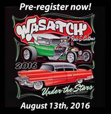 Pre-register for the 2016 Wasatch Rods and Customs Under the Stars Car Show