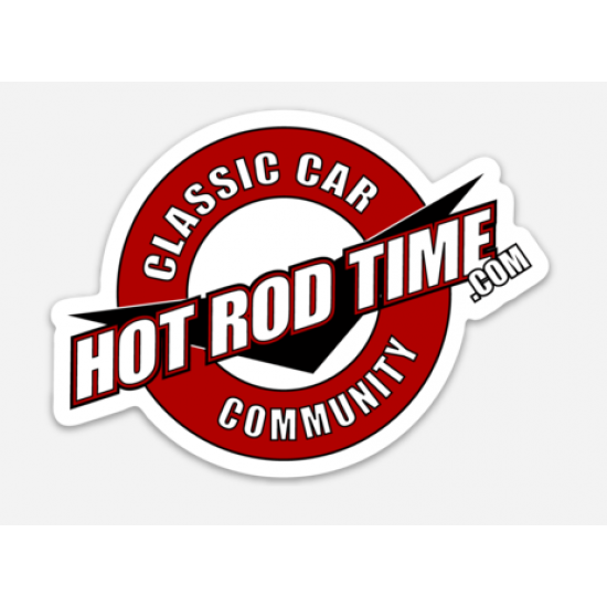 Large Hot Rod Time Sticker